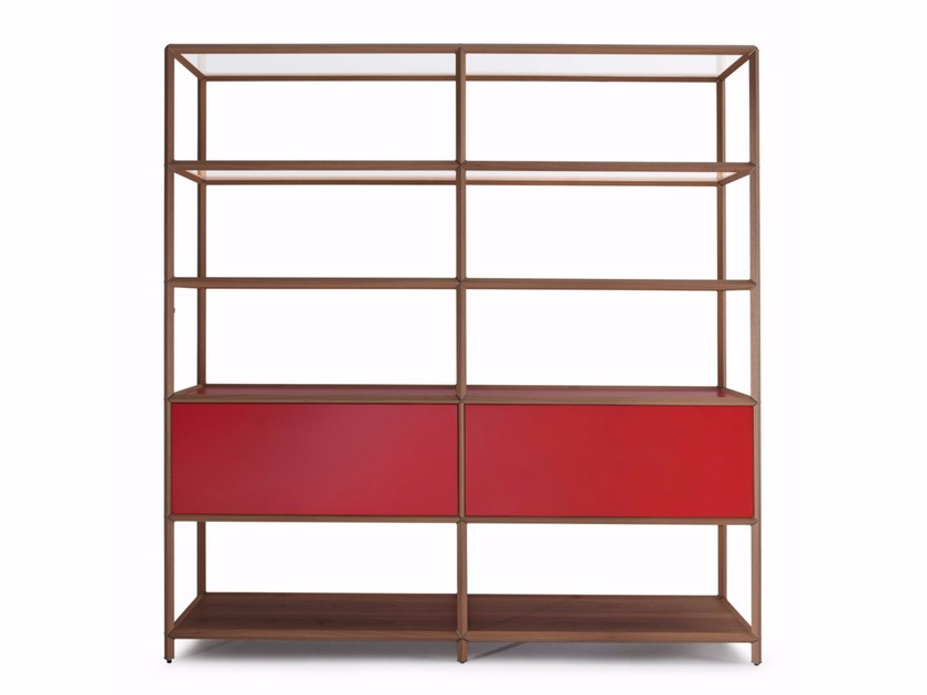 Sectional wooden shelving unit RETICOLO - MOLTENI & C.