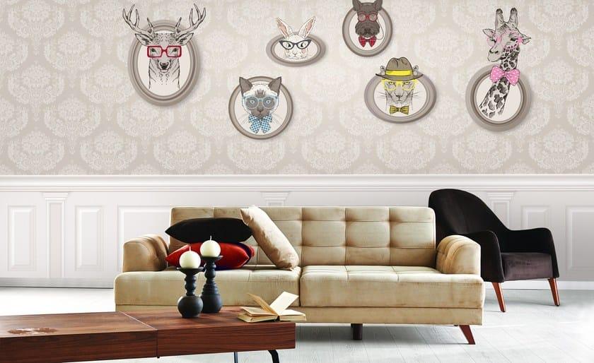 Motif non-woven paper wallpaper RETRO CHIC - LGD01