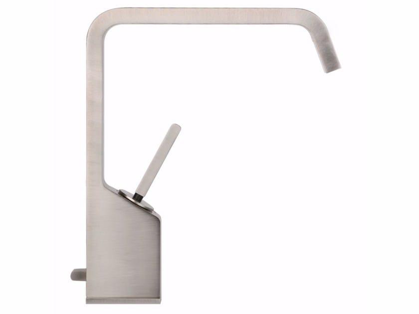Countertop single handle washbasin mixer RETTANGOLO XL 26101 by Gessi