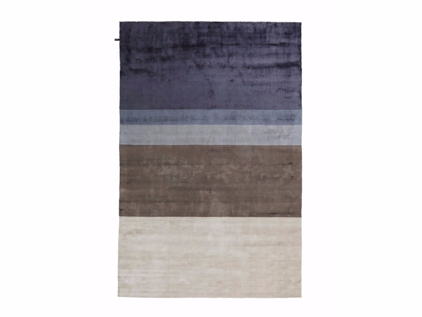 Striped viscose rug REVOLUTION S by miinu