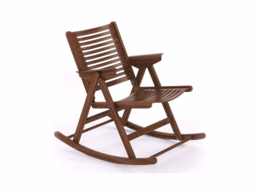 Rocking folding wooden chair REX ROCKING - Rex Kralj