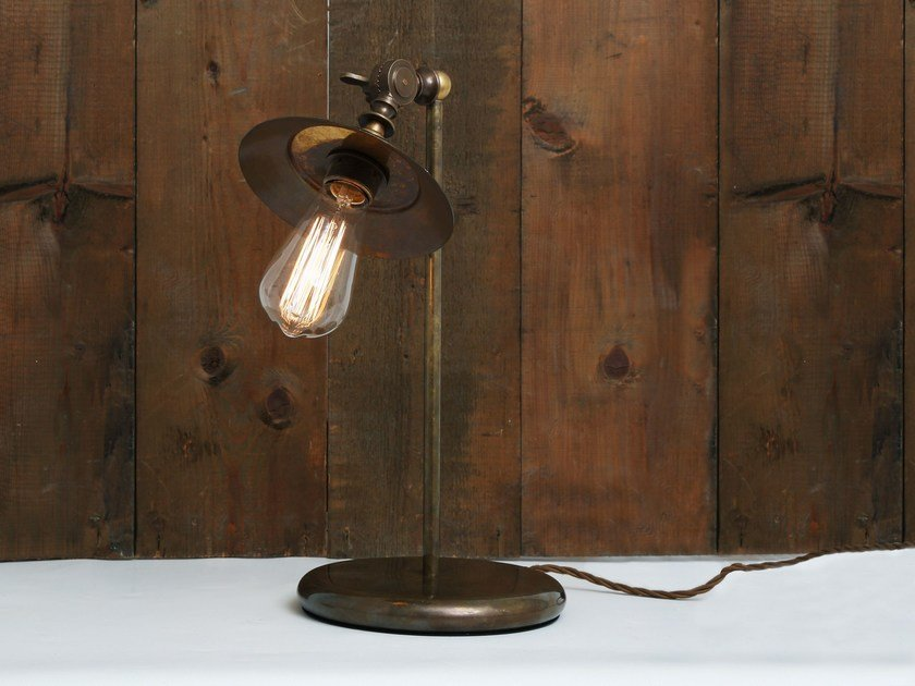 Handmade adjustable table lamp REZNOR INDUSTRIAL TABLE LAMP - Mullan Lighting