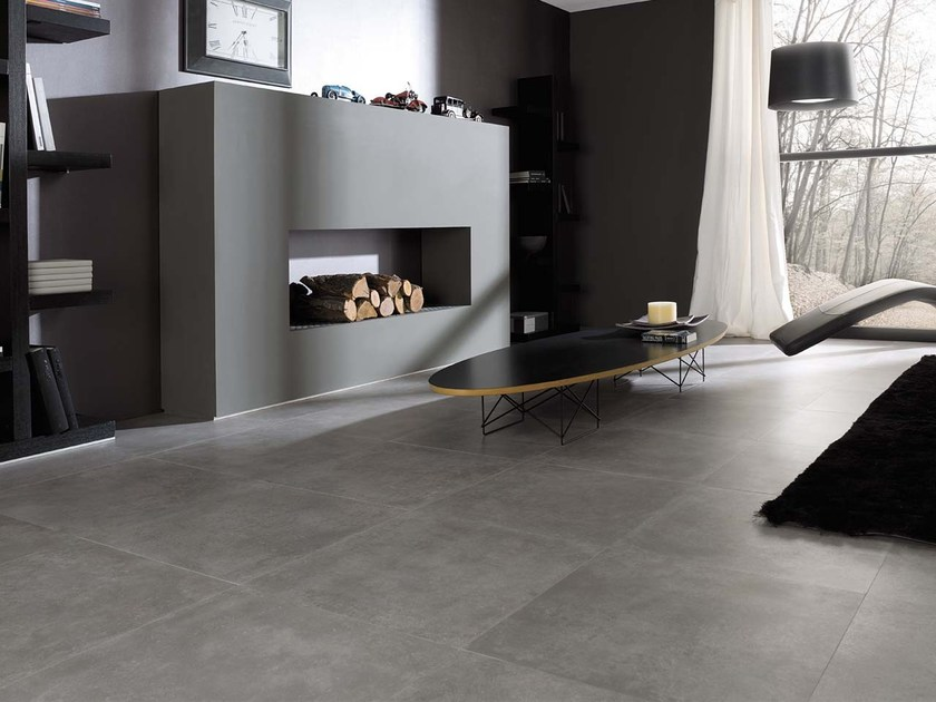 Indoor/outdoor porcelain stoneware flooring with stone effect RHIN | Porcelain stoneware flooring - Venis
