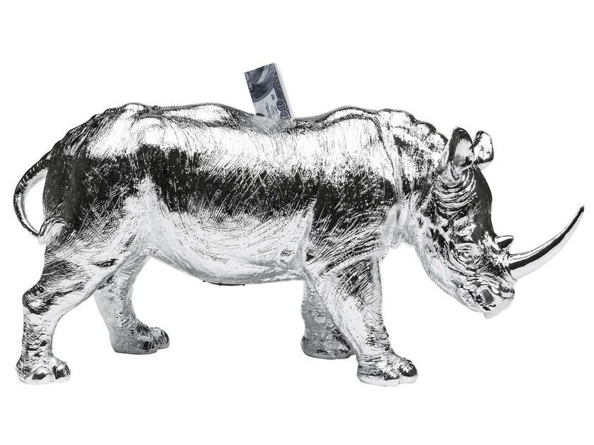 Resin money box RHINO CHROME - KARE-DESIGN
