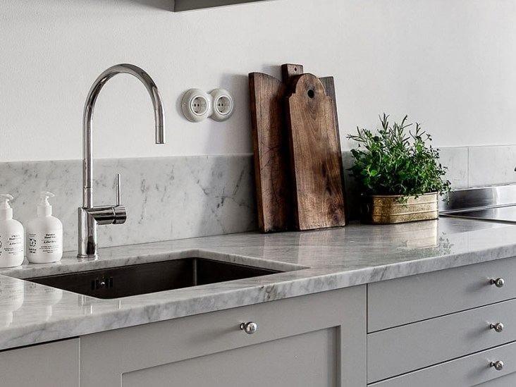 Countertop 1 hole stainless steel kitchen mixer tap RHYTHM RH-110 - Nivito