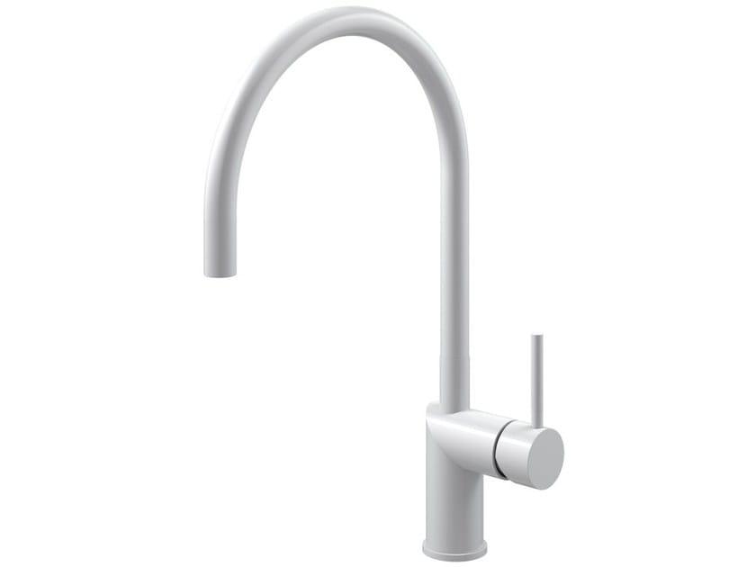 Countertop 1 hole stainless steel kitchen mixer tap RHYTHM RH-130 - Nivito