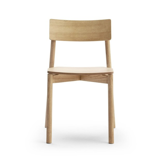 Contemporary style stackable ash restaurant chair RIB 11/L | Chair - Very Wood