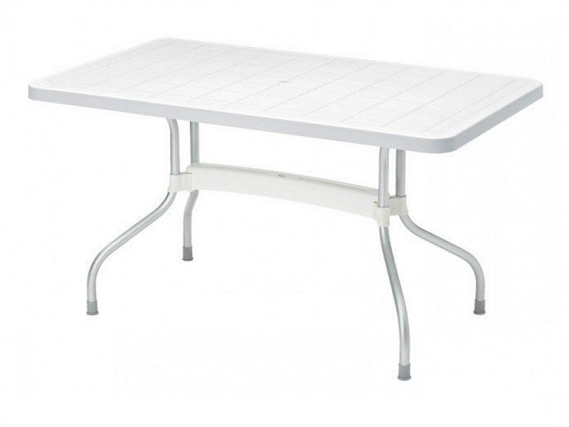 Drop-leaf rectangular polypropylene garden table RIBALTO | Rectangular table - SCAB DESIGN