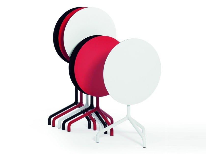 Drop-leaf round table RIBALTO | Round table - IBEBI