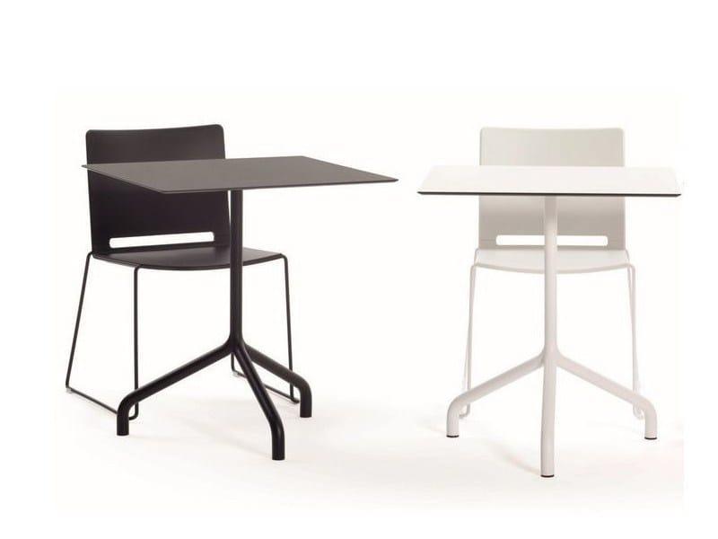 Drop-leaf square table RIBALTO | Square table - IBEBI