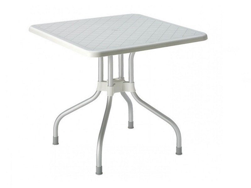Drop-leaf square polypropylene garden table RIBALTO | Square table by SCAB DESIGN