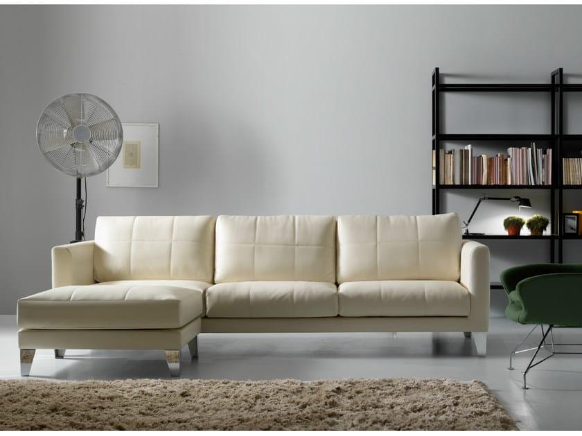 Fabric sofa with chaise longue RICHARD | Sofa with chaise longue by Quinti Sedute