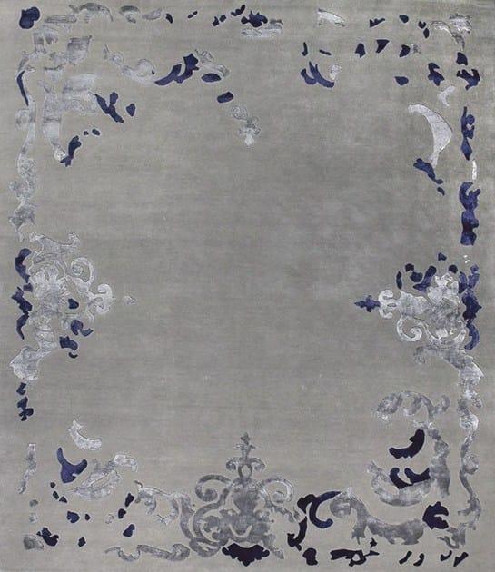 Patterned handmade rectangular rug RICHELIEU - EDITION BOUGAINVILLE