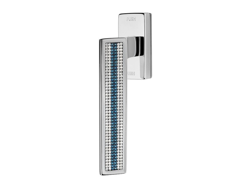Contemporary style anti-intrusion DK window handle with Swarovski® Crystals RIFLESSO MESH | Anti-intrusion window handle - LINEA CALI'
