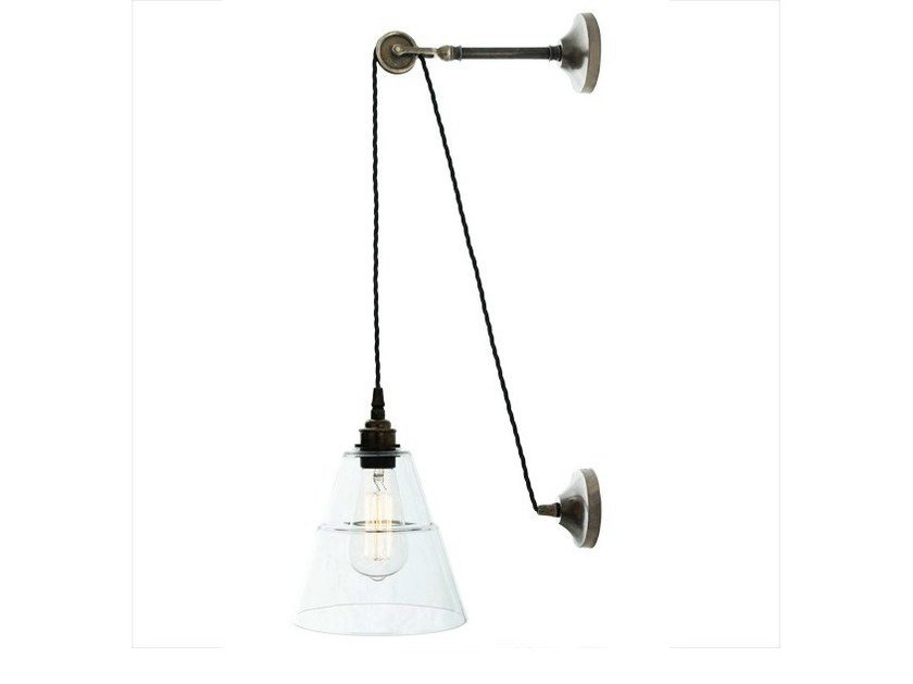 Direct light handmade wall lamp RIGALE COOLIE INDUSTRIAL PULLEY - Mullan Lighting