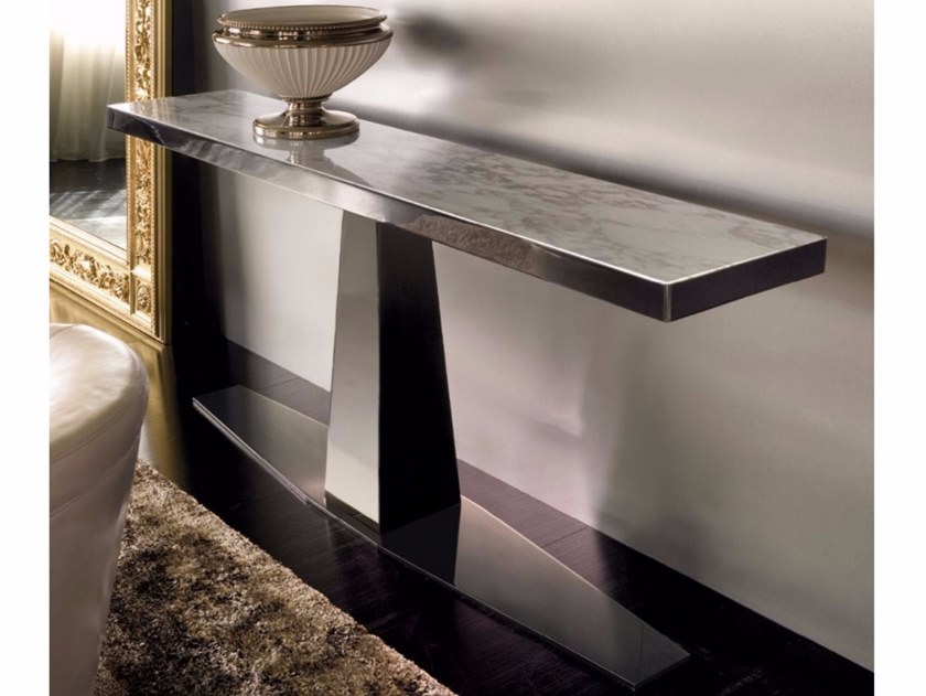 Rectangular marble console table RIM | Marble console table - Longhi