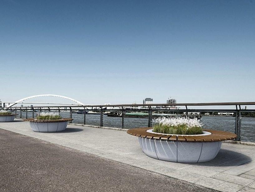 Panchina circolare con fioriera integrata ring bellitalia for Bellitalia arredo urbano