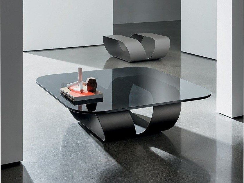 Glass coffee table RING - SOVET ITALIA