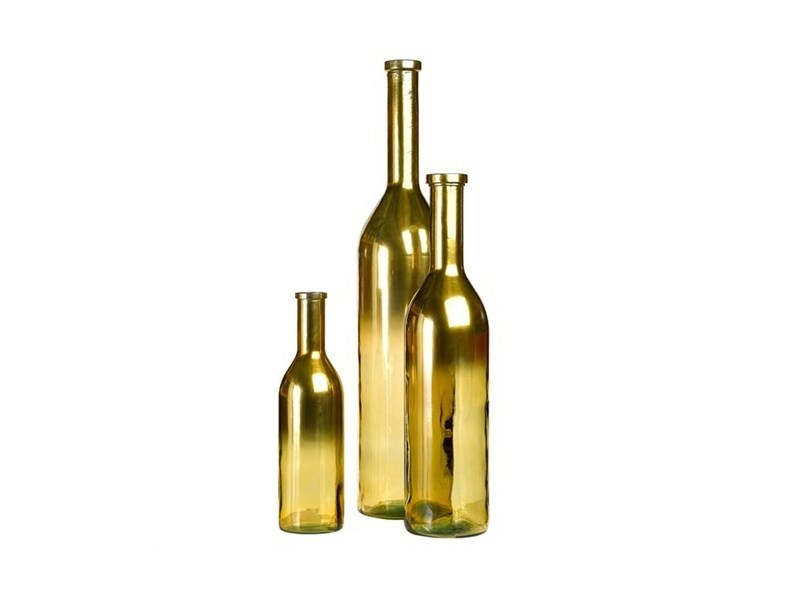 Recycled glass candle holder RIOJA GOLD - Pols Potten
