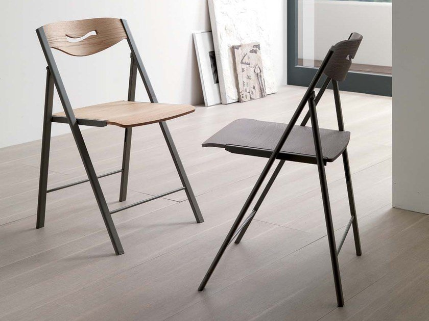 Folding chair RIPIEGO | Wooden chair - Ozzio Italia