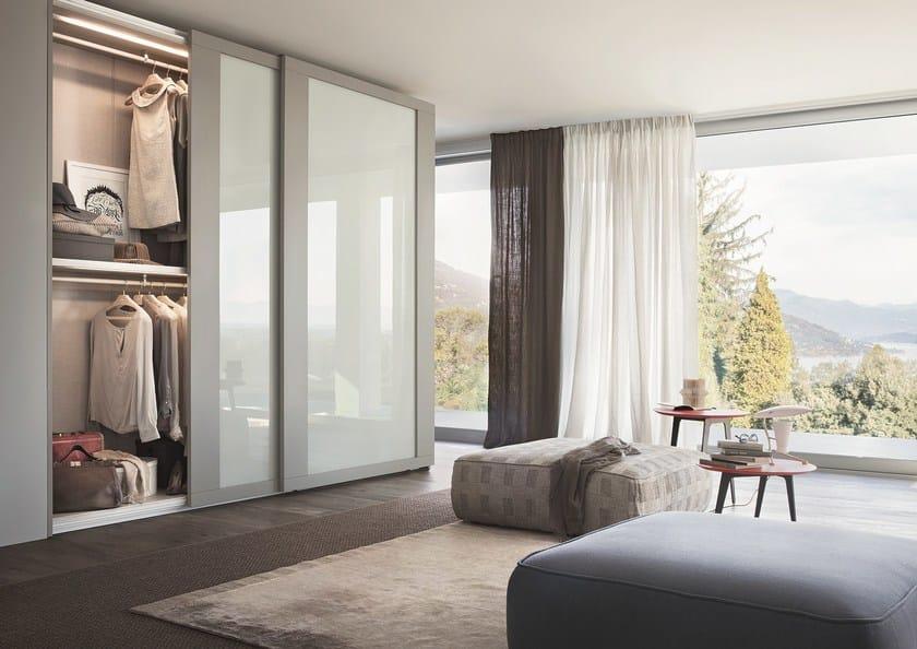 Wardrobe with sliding doors custom RIQUADRO - Lema