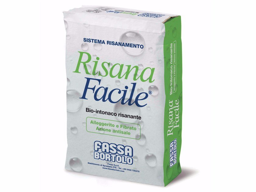 Renovating and de-humidifying additive and plaster RISANAFACILE® by FASSA