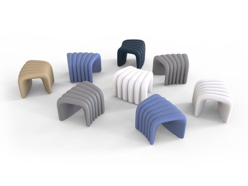 Polyurethane stool with linking device with fire retardant padding RIVER SNAKE | Stool by Tonon