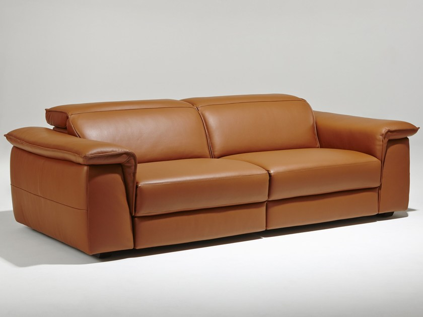 Recliner 3 seater leather sofa RIVOLI | Recliner sofa - Burov