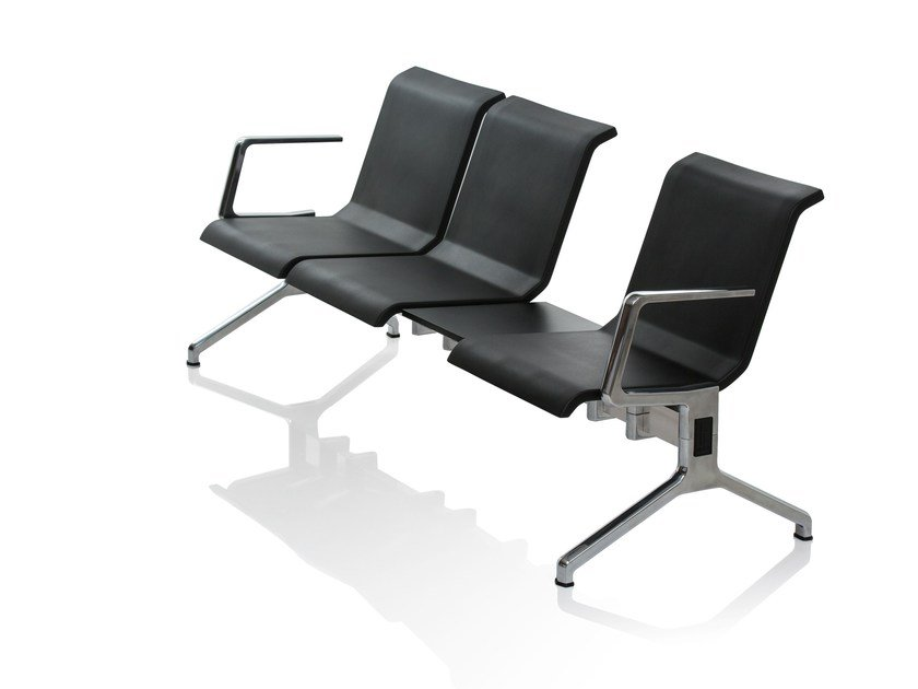 Beam seating with armrests RIX - RIGA CHAIR
