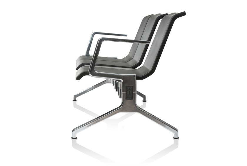 Beam seating with armrests RIX by RIGA CHAIR