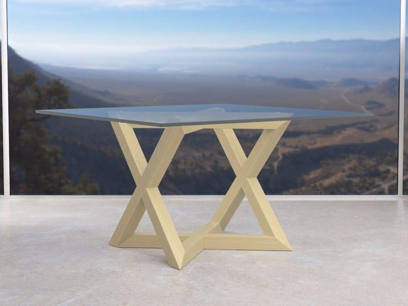 Tavolo quadrato in legno e vetro rk1 tavolo in legno e vetro diletta saporito - Ristrutturare tavolo in legno ...