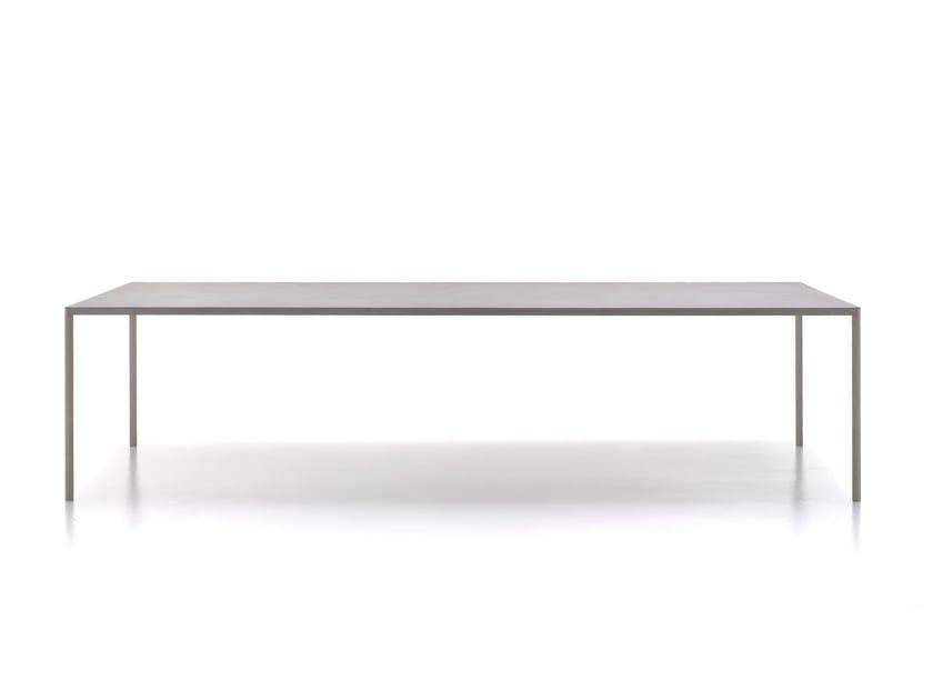 Rectangular cement table ROBIN - MDF Italia