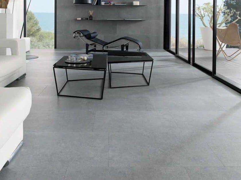 Indoor/outdoor porcelain stoneware flooring with stone effect ROCHER - Venis