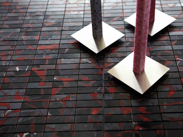 Marble mosaic ROCK'N'WAX GF - RS ROSSO - Lithos Mosaico Italia - Lithos