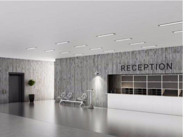 Rock wool ceiling tiles Rockfon Blanka® by ROCKFON
