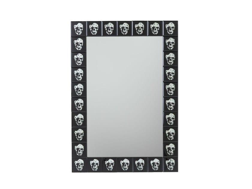 Rectangular wall-mounted framed mirror ROCKSTAR 100 x 70 - KARE-DESIGN