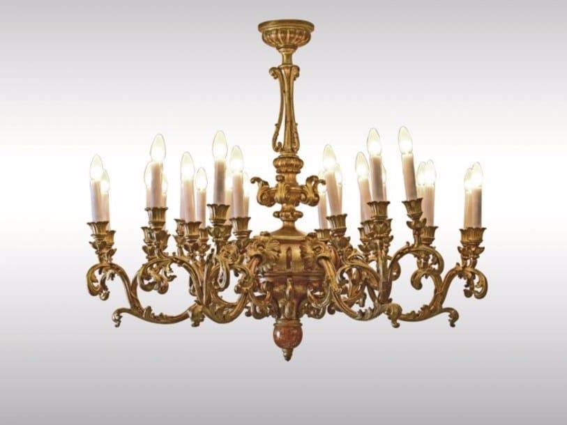 Gold leaf chandelier ROCOCO / BAROCK CHANDELIER - Woka Lamps Vienna