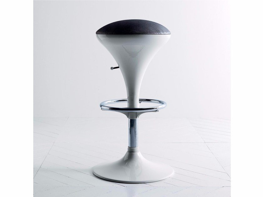 Swivel upholstered height-adjustable stool RODEO by Esedra