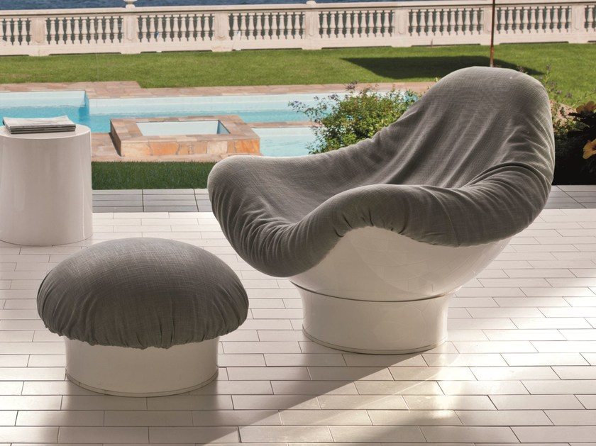 Swivel Dacron® armchair RODICA - Fratelli Longhi