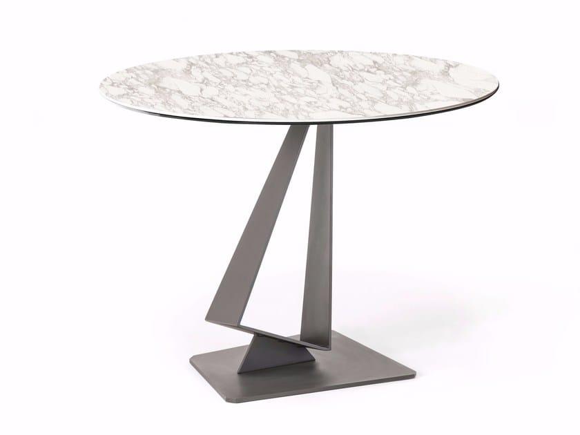 Round ceramic table ROGER KERAMIK by Cattelan Italia