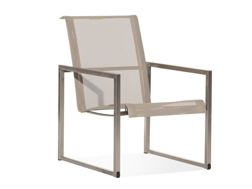 Garden armchair with armrests with casters ROLBLOC | Easy chair - Joli