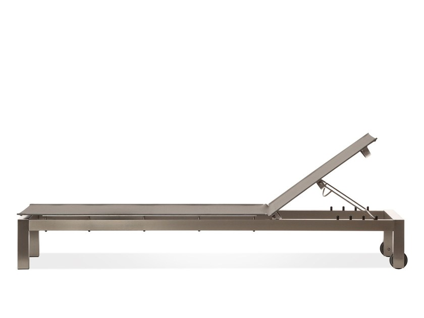 Recliner steel garden daybed with Casters ROLBLOC | Garden daybed - Joli