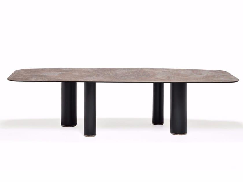 Ceramic table ROLL KERAMIK by Cattelan Italia