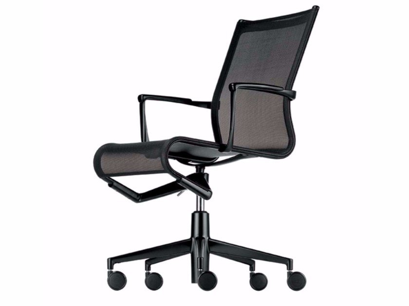 Height-adjustable swivel task chair with armrests ROLLINGFRAME+ - 457 by Alias