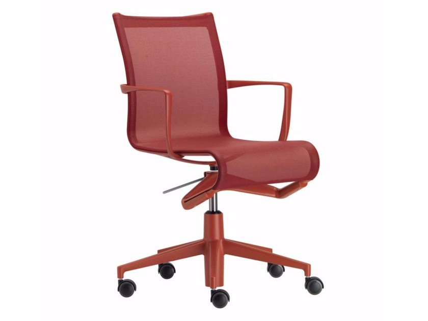 Height-adjustable swivel task chair with armrests ROLLINGFRAME COLORS - 434_C - Alias