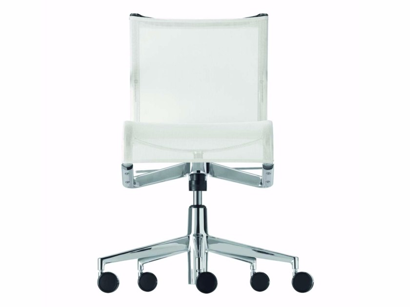 Height-adjustable mesh task chair with 5-Spoke base with casters ROLLINGFRAME+ LOW TILT - 442 - Alias