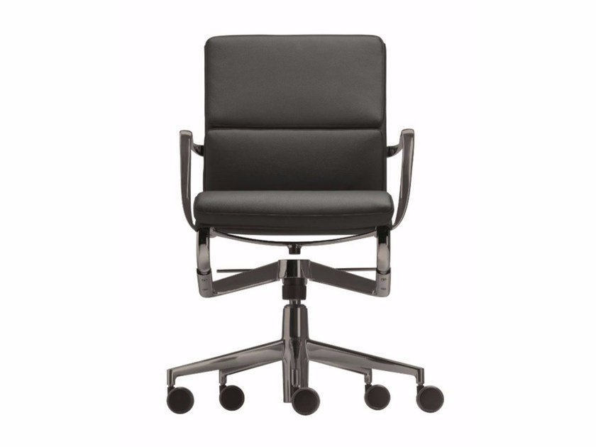 Swivel task chair with 5-Spoke base with casters ROLLINGFRAME+ LOW TILT SOFT 453 - Alias