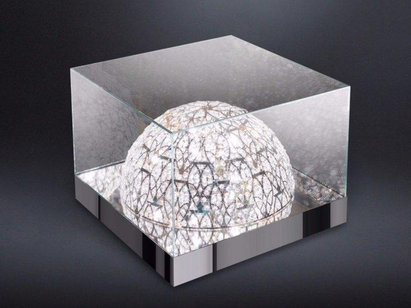 Square crystal coffee table with light ROMA - VGnewtrend