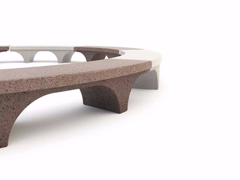 Curved backless Bench ROMANA | Curved Bench - Bellitalia