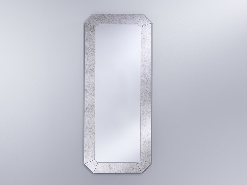 Art Nouveau framed rectangular mirror ROMANCE - DEKNUDT MIRRORS